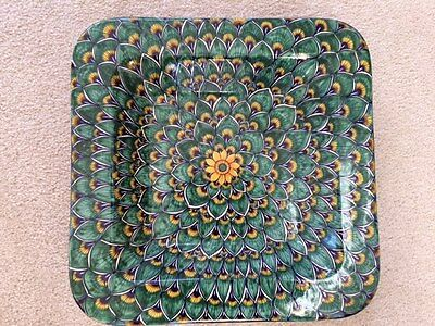 GERIBI Large Square Platter Bowl, Deruta, Italy NEW