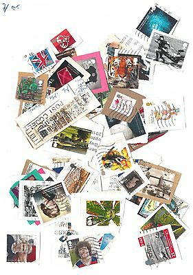 GB - 50 Commemorative Postage stamps as shown in picture. Kiloware (BT)