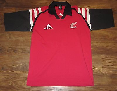 New Zealand All Blacks Rugby Jersey, Adidas, Red, Short Sleeve, Size M