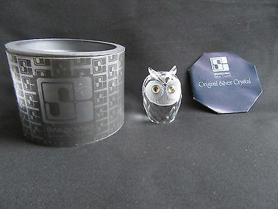 SWAROVSKI CRYSTAL OWL  2in TALL RETIRED BOXED WITH INSERT