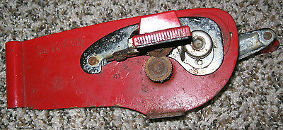 Vintage Swing-A-Way Can Opener, Red, Wall Mount