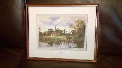 Framed Print ' Hemingford' by Henry H Parker 1858-1930 14 x 11 Inches/36x28 cms