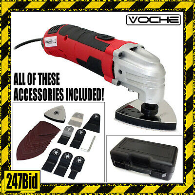 Voche® 300W 21Pc Multi Function Oscillating Power Sander Saw & Scraper Tool