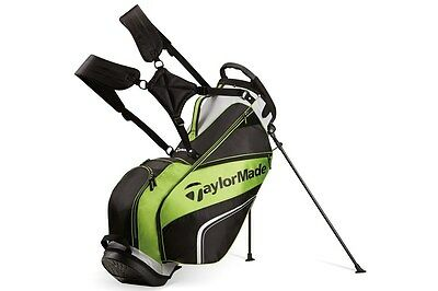 2017 Taylormade Golf Pro Carry Stand Bag 4.0 5-Way Men's Black/Grey/Green NEW