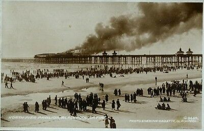 Pier on fire- photographic print 1938