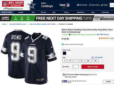 Genuine Nike NFL Players Dallas Cowboys Jersey