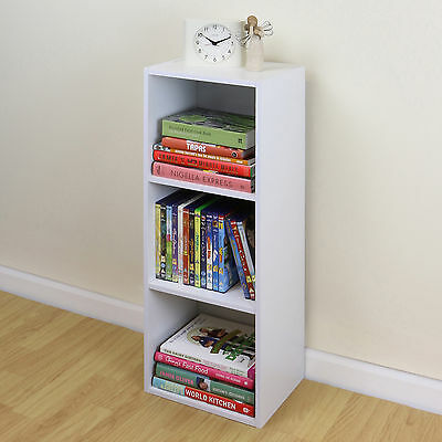 SALE 3 Tier Wooden White Cube Bookcase Storage Display Unit - DAMAGED PACKET#307