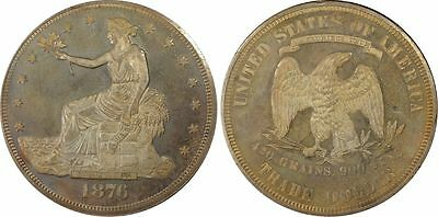 Usa 1876  Silver Trade Dollar Pcgs Unc Details