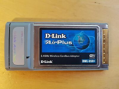D-Link AirPlus- DWL-650+ 2.4Ghz Wireless Cardbus Adapter