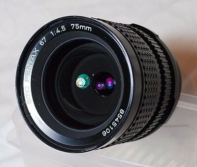 Pentax67 75mm 4.5 SMC Wide Angled Lens,in Prestine Condition