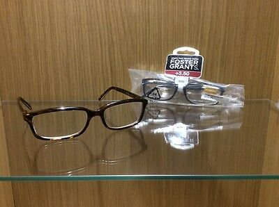 2 Pairs of Foster Grant Spring Hinged Reading Glasses  + 3.50 Strength RRP £21