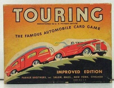 Parker Brothers Touring Auto Card Game Vintage Used
