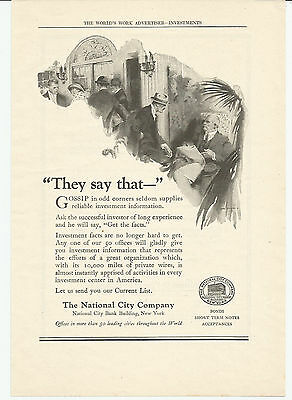 Vintage, Original 1922 - The National City Company Advertisement - Investments