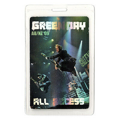 Green Day authentic 2009 concert tour Laminated Backstage Pass