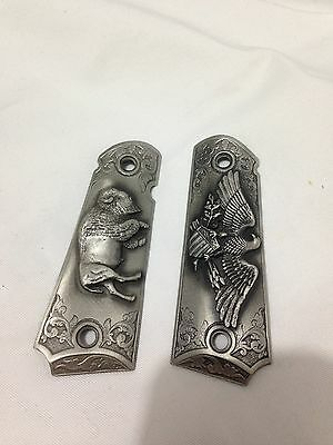 Pilgrim Pewter Colt 1911 grips by Sid Bell