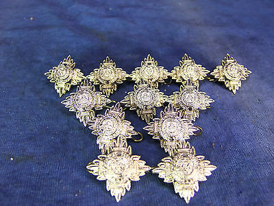 12 Metal 'Rank Star' Buttons - 20th C [1092]