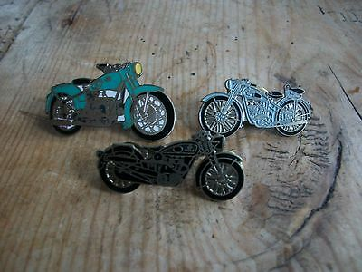 Vintage X 3 Motorcycle Badges