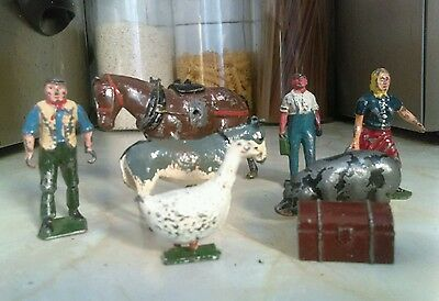 vintage lead farmyard figures