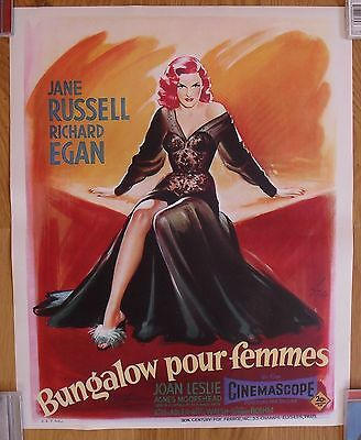 THE REVOLT OF MAMIE STOVER jane russell original rolled french movie poster '56
