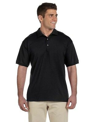 Gildan Polo Shirt Men's Short Sleeve 6.1oz Ultra Cotton Jersey Plain Casual 2800