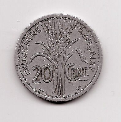 World Coins - French Indochine 20 Centimes 1945 Coin KM29.1