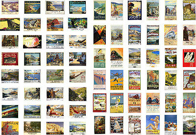 RAILWAY TRAVEL POSTERS OO Gauge for model scenery