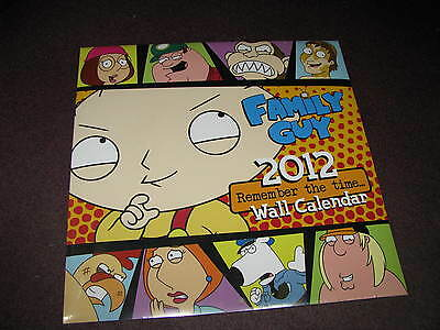 family Guy Collectible 2012 Calendar Full Size - New SEALED - Make Offer !