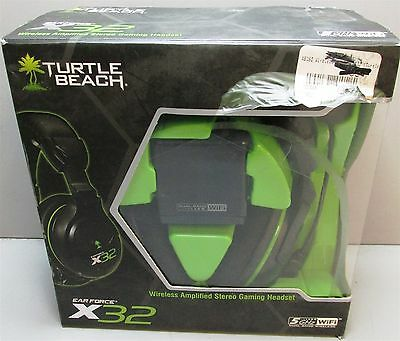 Turtle Beach Ear Force X32 Wireless Amplified Stereo Gaming Headset- IOB