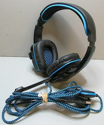 Sades SA-901 Wired Amplified Stereo PC Gaming Headset Black & Blue