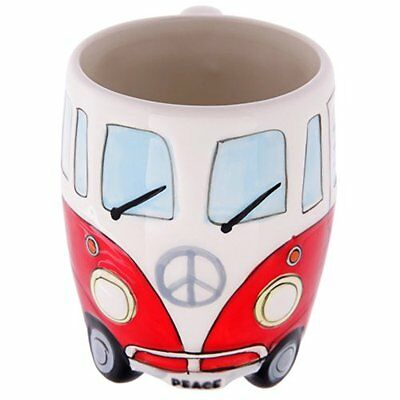 Volkswagen - Red Ceramic Shaped Coffee Mug / Cup (VW Camper Van / Bully / T1)...