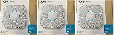 3 NEW-SEALED Nest Protect 2nd Gen Smoke+Carbon Monoxide AlarmWIRED S3003LWES