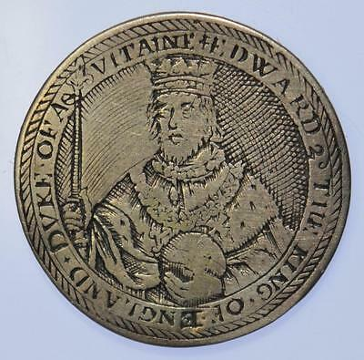 Edward II - Silver medalet / Counter by De Passe. Ca. 1630