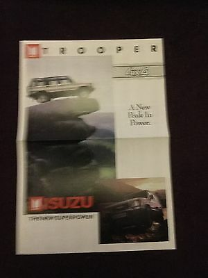 Isuzu Trooper 4x4 A New Peak In Power The New Superpower Brochure