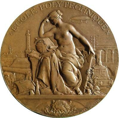 France: 1894 Centenary of the École Polytechnique Bronze medal