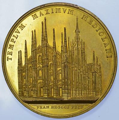 Italy - 1886 Gilt bronze 500th Anniversary of Milan Cathedral medal
