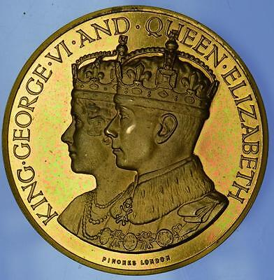 George VI  - 1937 Gilt Coronation medal by Pinches with box of issue
