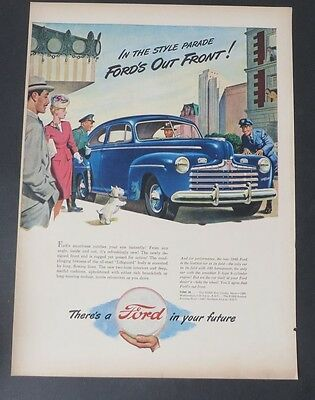 Original Print Ad 1946 FORD in Your Future Out Front Scottie