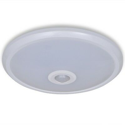 New LED Ceiling Lamp with Infrared Sensor 12 W 24 LEDs Home Light Polycarbonate