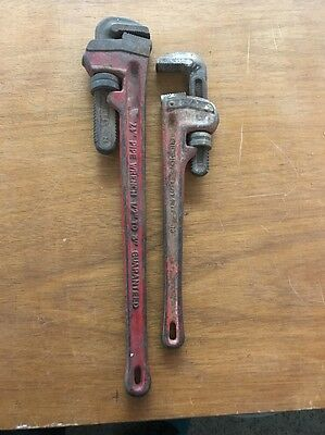 Rigid Tools Lot Of Two Pipe Wrenches ( 18'' & 24'')