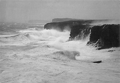 BR92143 rough seas at yesnaby orkney  scotland