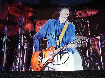 genuine hand signed jimmy page (led zeppelin) photo