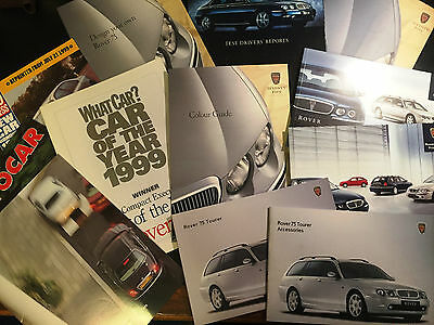 ROVER 75 Complete set of sales brochures collected with car when purchased