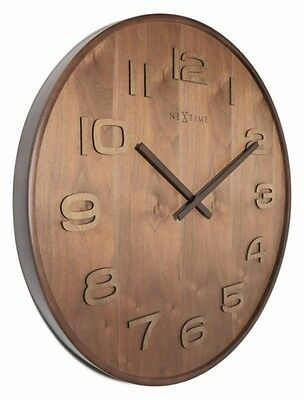 HANDMADE LARGE Retro Vintage Shabby Chic Rustic Wooden Kitchen Home Wall Clock