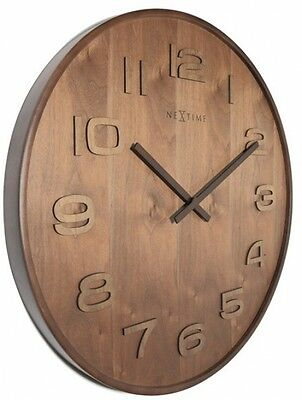 EXTRA LARGE HANDMADE Retro Vintage Shabby Chic Rustic Wooden Kitchen Wall Clock