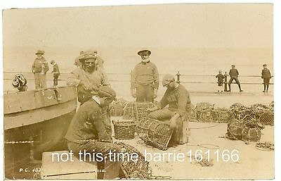 NORFOLK-SHERINGHAM FISHERMEN- REAL PHOTO,POSTED1908.cw218