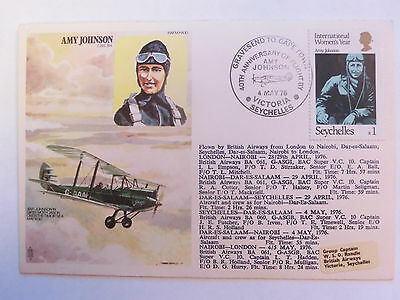 Commemorative Cover of Amy Johnson Dated May 1976