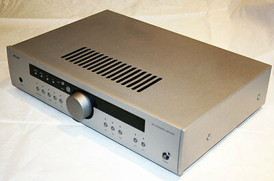 Arcam A90 integrated amplifier and remote control.