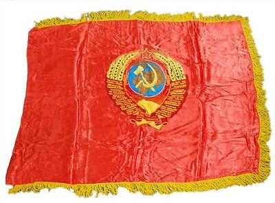 "Large Soviet Era Patriotic Flag - 51"" X 38"""