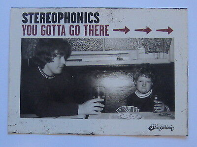 Stereophonics You Gotta Go There To Come Back. Promo Postcard.