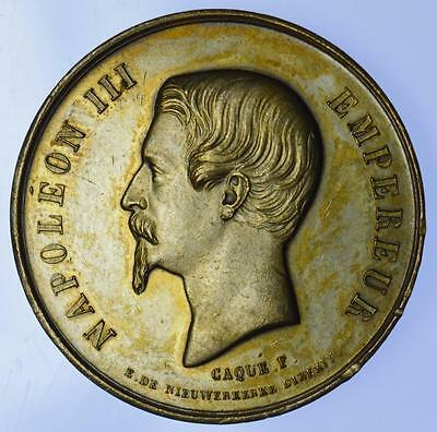 France - 1855 Napoleon III Exposition Universelle medal by Caque